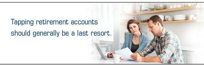 Couple ponders tapping retirement account funds and other resources during economic crisis