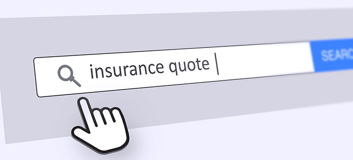 Image of an internet browser search for an insurance quote